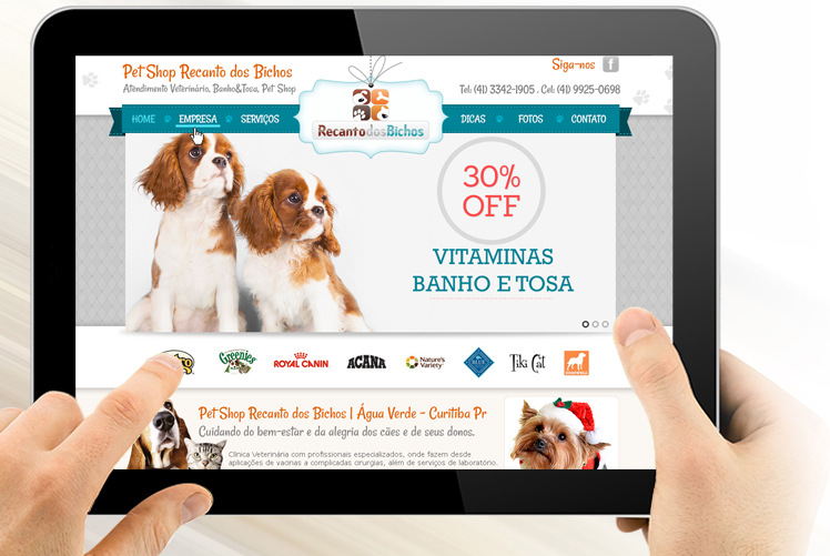 Cria o de site pet shop florian polis for Homepage shop